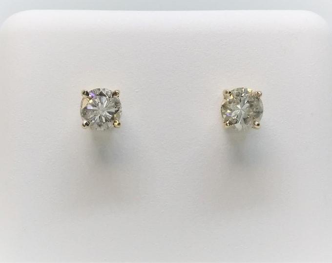 0.50 CT 14k Yellow Gold Diamond Stud Earrings