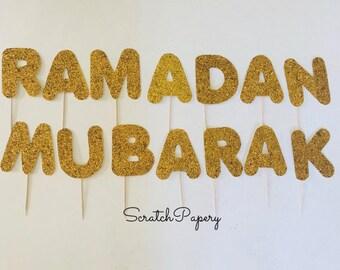 Ramadan Mubarak cupcake toppers