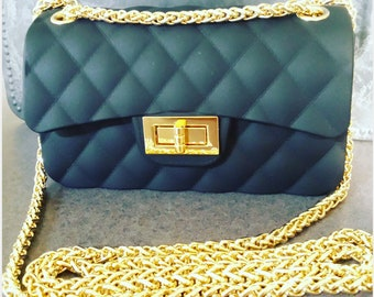 Gold Color Braided Chain Cross body Bag