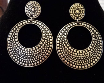 Black and Silver Cutout Earrings
