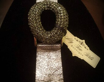 Gray Black Crystal Bracelet