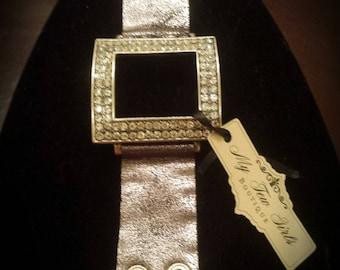 Silver Square Strap Bracelet