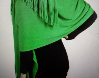 Kelly Green Oversize Scarf