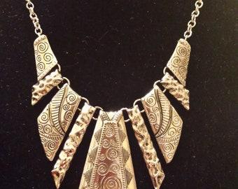Vintage Scroll Stamped Necklace