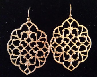 Gold Color  Filigree Earrings