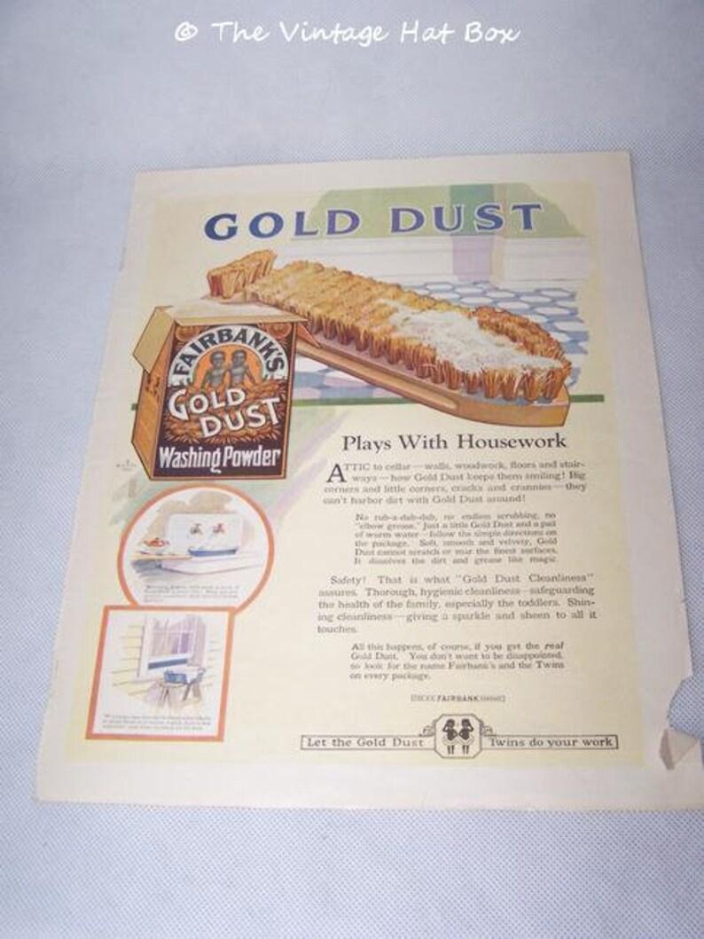 Vintage 1920 1922 Needlecraft Magazine Pages Gold Dust Gold image 0