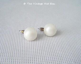 Vintage Pearl Disc Earrings