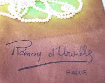 Vintage Remoy d'Urville Handpainted Silk Scarf