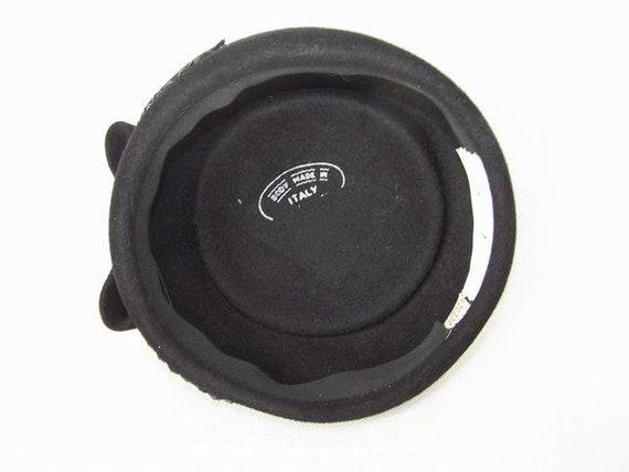 Vintage 1950/60's Black Fur Felt Hat - image 6