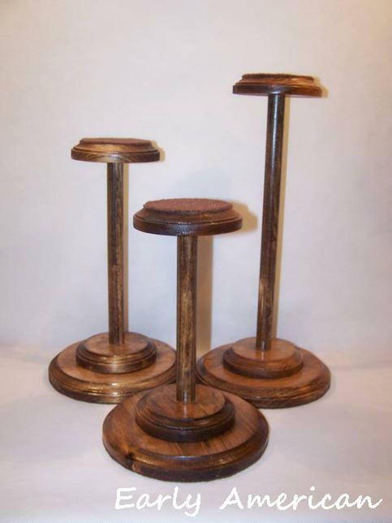 Wood Hat Stands Set of 3 image 0