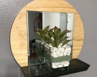 Handmade Solid Wood Round Shelf Made To Order