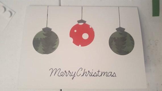 Christmas Greeting.Handmade Christmas Greeting Card Ornament Holiday Greeting Card Ornament Designed Red And Green Christmas Greeting Card Cuatimizable