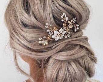Boho Flower Bridal Hair Pin  Delicate Bridal headpiece  Wedding hair pins  Bohemian Wedding   Bridal Pins