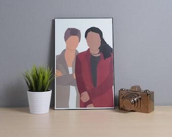 Kadena (Kat Edison + Adena El Amin) | The Bold Type | Digital Art | 11x17 Poster | TV Show Art | TV Show Poster | lgbtq | Fandom | Feminist