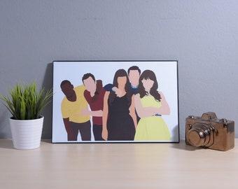 New Girl | Digital Art | 17x11 Poster | TV Show Poster | TV Show Print | Art Print | New Girl Print | Room Decor | Fandom | New Girl Art