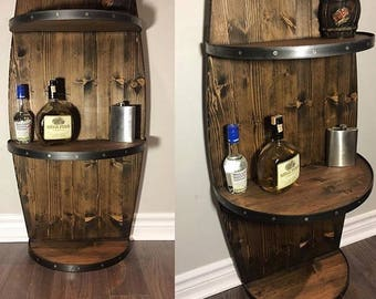 Barrel Shelf Ideal For Bar...Man Cave...Wedding Gift...liquor Storage