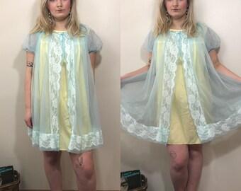 Vintage PLUS SIZE 1950s Dressing Gown XXL