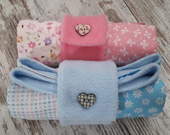 Cover Pink baby Stroller style patchwork cotton and fleece bag-reclosable blanket