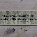 Jorge Luis Borges Library Quote