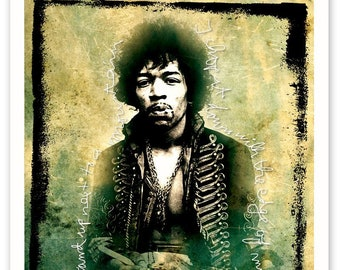 Jimi Hendrix RockArt