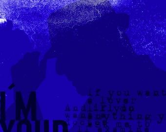 Leonard Cohen Blue RockArt
