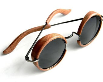 Steampunk wooden Sunglasses
