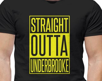 Straight Outta Underbrooke From Once Upon a Time, OUAT Vinyl Print Shirt Comes In Yellow or White