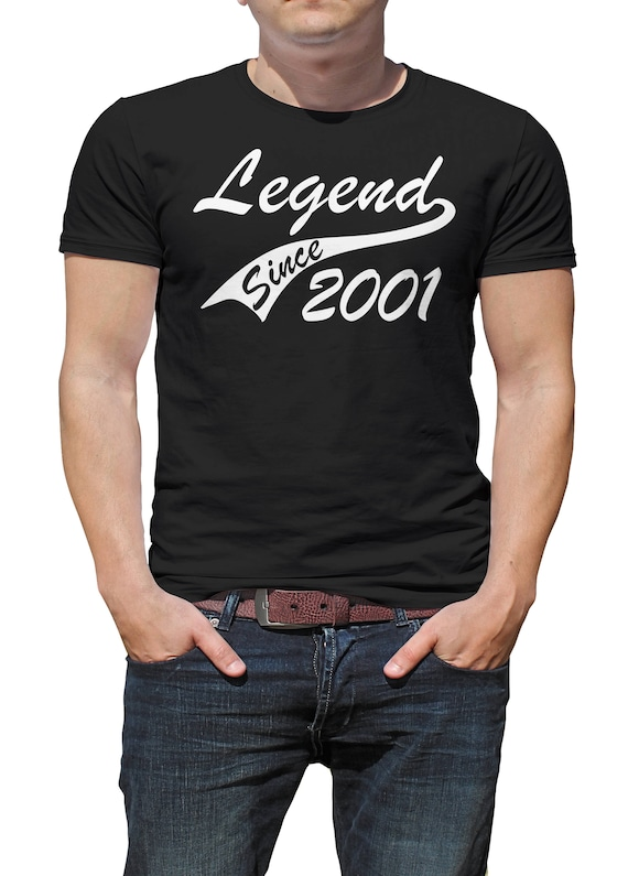 Legend 2001 16th Birthday Gifts Present Gift Ideas T Shirt For