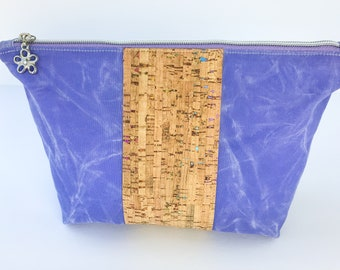 Waxed Canvas Bag, Makeup Zipper Pouch for Travel, Toiletries, Organization, Storage, and Electronics for a Perfect Gift