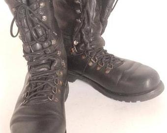 Men's Motorcycle Boots Vintage | Etsy UK