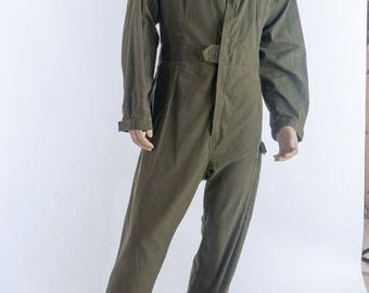 army surplus/military issue British olive green boiler suit.