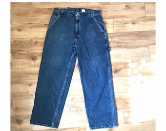 d951c162 Vintage 1990s Levi's Carpenter Jeans Men's Size W33 L32 Relaxed Baggy Fit