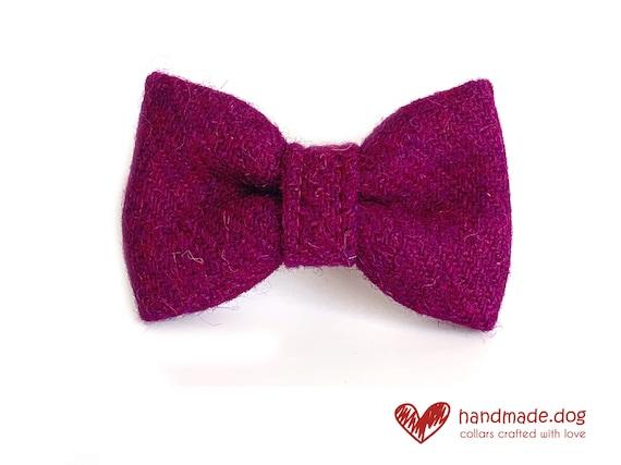 Handmade Brown Check Mens Tweed Bow Tie Tweed Dickie Bow