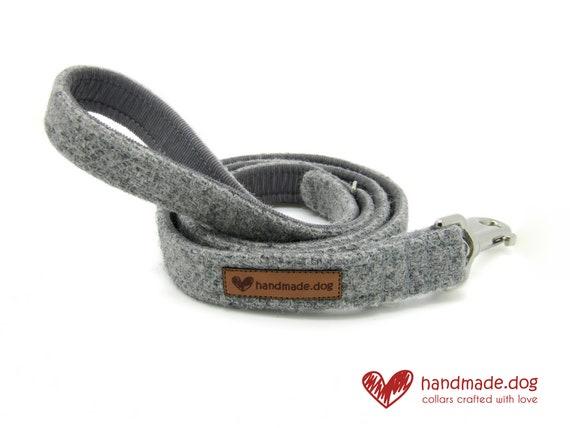 Handmade Soft Grey 'Harris Tweed' Dog Lead