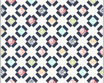 Garden Charm PDF Digital Quilt Pattern by Pieced Just Sew, Charm Pack or Fat Quarter Friendly