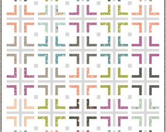 Metro PDF Digital Quilt Pattern by Pieced Just Sew, Honey Bun or Charm Pack Friendly
