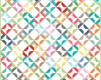 Hidden Spools PDF Digital Quilt Pattern by Pieced Just Sew, Charm Pack Friendly