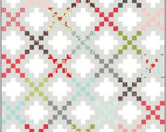 Double Take PDF Digital Quilt Pattern by Pieced Just Sew, Jelly Roll Friendly