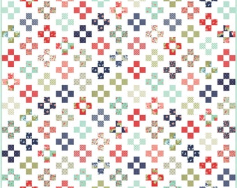 Jelly Patch PDF Digital Quilt Pattern by Pieced Just Sew, Jelly Roll Friendly
