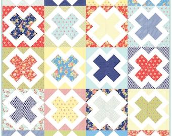 Treasure Hunt PDF Digital Quilt Pattern by Pieced Just Sew, Fat Quarter Friendly