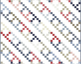 Friendship PDF Digital Quilt Pattern by Pieced Just Sew, Jelly Roll Friendly