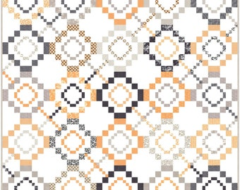 Spellbound PDF Digital Quilt Pattern by Pieced Just Sew, Honey Bun and Jelly Roll Friendly
