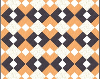 Easy Argyle PDF Digital Quilt Pattern by Pieced Just Sew