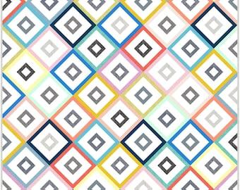 Honey Squares PDF Digital Quilt Pattern by Pieced Just Sew, Honey Bun or Fat Quarter Friendly