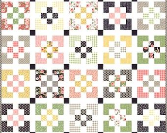 Window Box PDF Digital Quilt Pattern by Pieced Just Sew, Jelly Roll Friendly