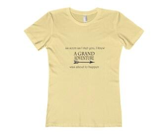 Grand Adventure - Disney Shirt - Womens The Boyfriend Tee