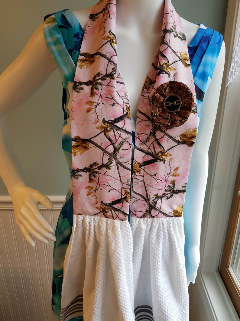 Kitchen Towel boa Real Tree pink neck scarf towel kitchen dish towel scarf