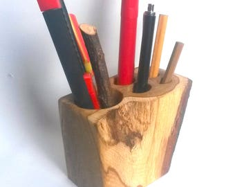 Desk Accessories, Wood Desk Organizer, Wood Pencil Holder, Desk Organizer, Office Storage