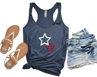 0581a0fbdf8881 Forth of July Shirt Women   Forth of July Tank   Stars and Stripes   American  Flag Shirt   Red White and Blue   Patriotic Tank Top