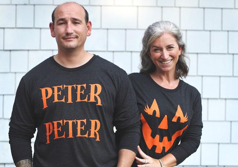 long sleeve t-shirt for men jack o lantern pumpkin halloween costume tee shirt